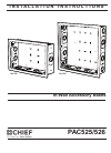 CHIEF PAC525 Racks & Stands Manual (12 pages)