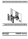 CHIEF PNRIW Series Racks & Stands Manual (12 pages)