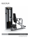 Matrix VS-S42 Home Gym Manual (32 pages)