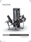 Matrix VS-S72 Seated Leg Curl Home Gym Manual (19 pages)
