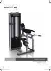 Matrix VS-S40 Bicep Curl Home Gym Manual (17 pages)
