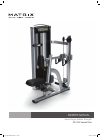 Matrix VS-S34 Seated Row Home Gym Manual (19 pages)