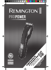 Remington HC5800 Hair Clipper Manual (7 pages)