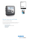 Philips DLV2007 MP3 Player Accessories Manual (2 pages)