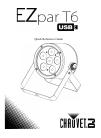 Chauvet EZpar T6 USB DJ Equipment Manual (40 pages)