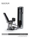 Matrix VS-S74 Home Gym Manual (40 pages)