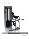 Matrix VS-S40 Bicep Curl Home Gym Manual (32 pages)