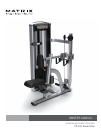 Matrix VS-S34 Seated Row Home Gym Manual (36 pages)