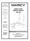 Marcy PM-767 Home Gym Manual (12 pages)