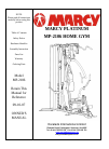 Marcy MP-2106 Home Gym Manual (29 pages)