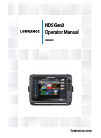 Lowrance HDS Gen3 Touch Fish Finder Manual (166 pages)