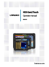 Lowrance HDS Gen2 Touch Fish Finder Manual (173 pages)
