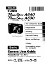 Canon POWERSHOT A630 Digital Camera Manual (368 pages)
