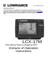 Lowrance LCX-17M Fish Finder Manual (134 pages)