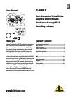 Behringer VIRTUAL AMPLIFICATION V-AMP 3 DJ Equipment Manual (22 pages)