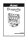 ACME Dragonfly Quad DJ Equipment Manual (20 pages)