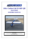 AeroWorks Carbon Cub SS ARF-QB Toy Manual (97 pages)