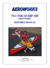 AeroWorks 75cc YAK-54 ARF-QB Toy Manual (97 pages)