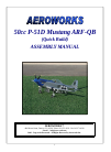 AeroWorks 50cc P-51D Mustang ARF-QB Toy Manual (85 pages)