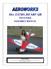 AeroWorks 50cc EXTRA 260 ARF-QB Toy Manual (93 pages)