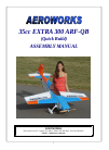 AeroWorks 35cc EXTRA 300 ARF-QB Toy Manual (80 pages)