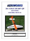AeroWorks 30cc EDGE 540 ARF-QB Toy Manual (104 pages)