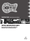 Behringer VIRTUAL AMPLIFICATION V-AMP 3 DJ Equipment Manual (11 pages)