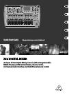 Behringer X32 DIGITAL MIXER DJ Equipment Manual (28 pages)