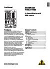 Behringer PRO MIXER VMX300USB DJ Equipment Manual (7 pages)