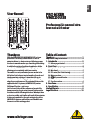 Behringer PRO MIXER VMX200USB DJ Equipment Manual (7 pages)
