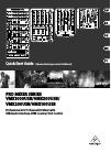 Behringer PRO MIXER VMX300USB DJ Equipment Manual (15 pages)
