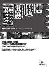 Behringer PRO MIXER VMX300USB DJ Equipment Manual (17 pages)