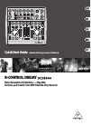 Behringer B-Control Deejay BCD3000 DJ Equipment Manual (13 pages)