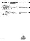 Behringer VIRTUAL AMPLIFICATION V-AMP 3 DJ Equipment Manual (16 pages)