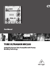 Behringer Tube Ultragain MIC200 DJ Equipment Manual (21 pages)