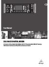 Behringer X32 DIGITAL MIXER DJ Equipment Manual (66 pages)