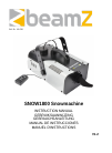 Beamz SnowW1800 DJ Equipment Manual (12 pages)