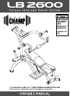Body Champ lb 2600 Home Gym Manual (12 pages)