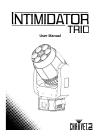 Chauvet Intimidator Trio DJ Equipment Manual (27 pages)