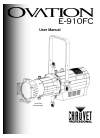 Chauvet Ovation E-910FC DJ Equipment Manual (29 pages)