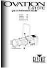 Chauvet Ovation E-910FC DJ Equipment Manual (56 pages)