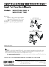 CHIEF MSP-TDKCG110 Racks & Stands Manual (12 pages)