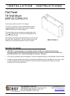 CHIEF MSP-DCCGPM-210 Racks & Stands Manual (8 pages)