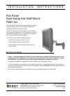 CHIEF FWD-111 Racks & Stands Manual (12 pages)
