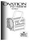 Chauvet Ovation FD-165WW DJ Equipment Manual (23 pages)