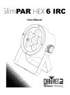 Chauvet SlimPAR HEX 6 IRC DJ Equipment Manual (24 pages)