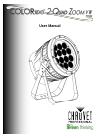 Chauvet COLORado 2-Quad Zoom IP DJ Equipment Manual (22 pages)