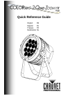 Chauvet COLORado 2-Quad Zoom IP DJ Equipment Manual (28 pages)