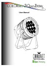Chauvet COLORado 2-Quad Zoom IP DJ Equipment Manual (29 pages)