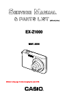 Casio EX Z1000 - EXILIM ZOOM Digital Camera Digital Camera Manual (44 pages)